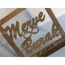 40 cm Ayna İsimlik - Masa Üstü İsimlik - Pleksi İsimlik - Nişan İsimliği