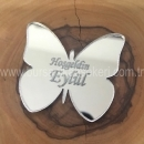 Kelebek Pleksi Ayna İsim Plakası