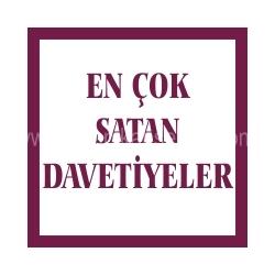 En Çok Satan Davetiye Modelleri ve Fiyatları