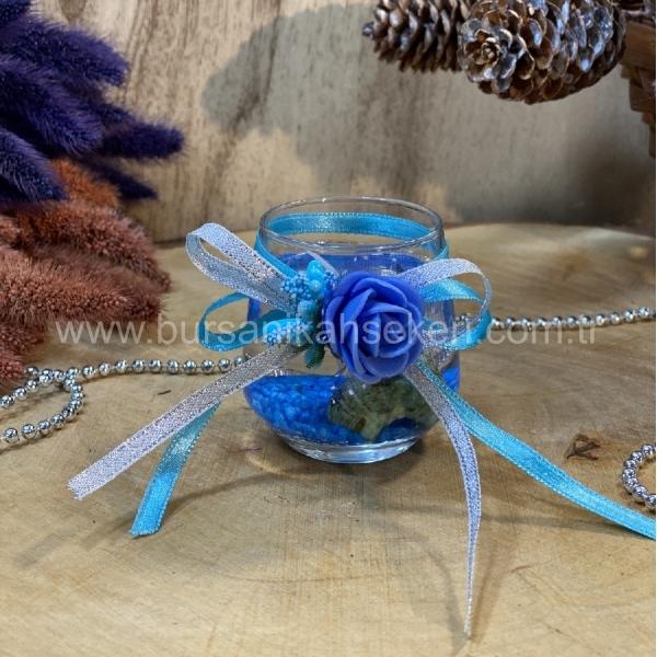 Mavi Mum Nikah Şekeri Modeli Ns 093