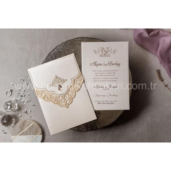 Wedding Davetiye 8407