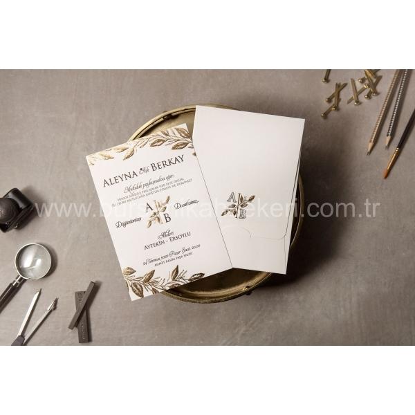Wedding Davetiye 8408