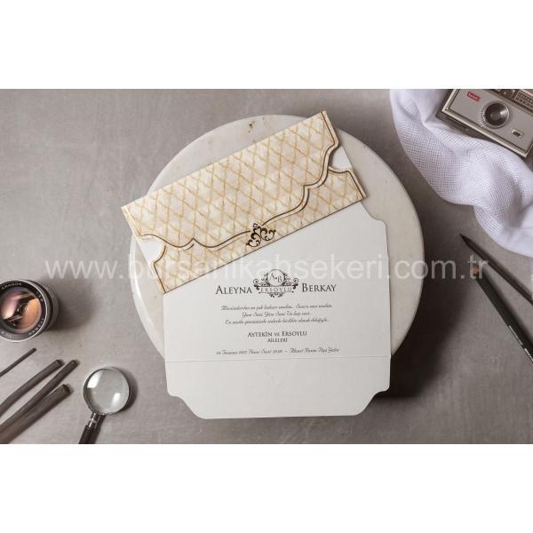 Wedding Davetiye 8449
