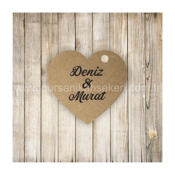 Kalp Nikah Şekeri Etiketi -207