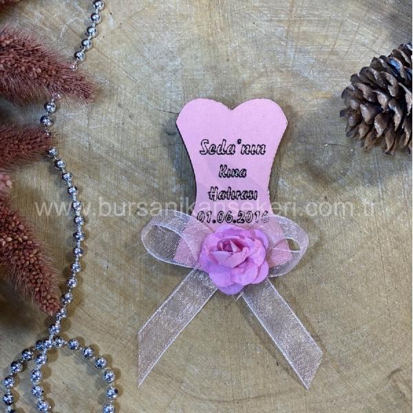 Pembe Kına Elbisesi Magnet Söz Nişan Nikah Ns 295