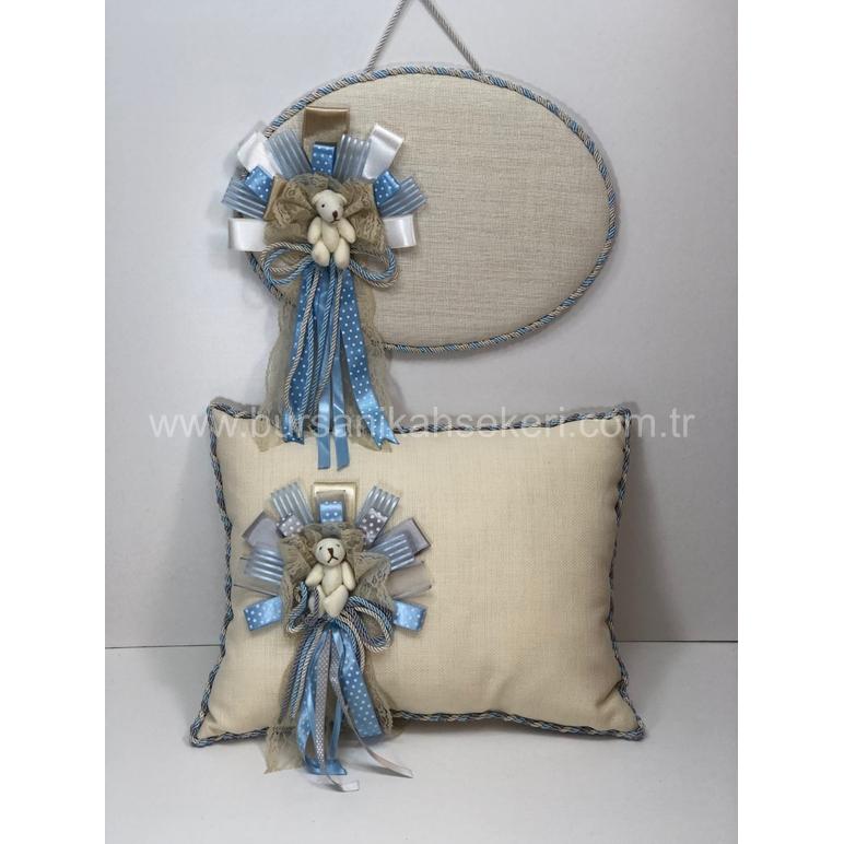 Krem Bebek Takı Yastığı