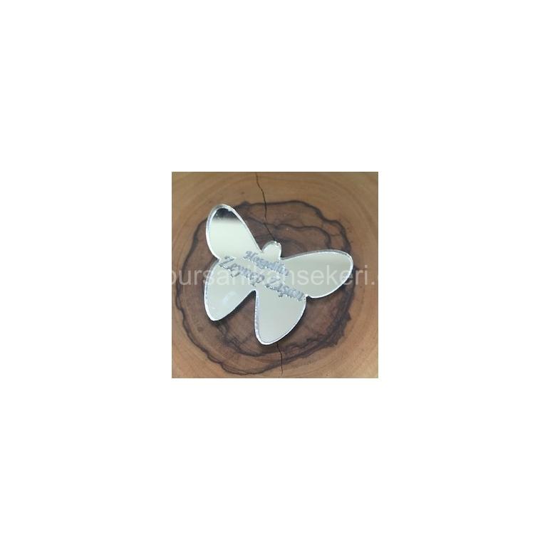 Kelebekli Pleksi Ayna İsim Plakası